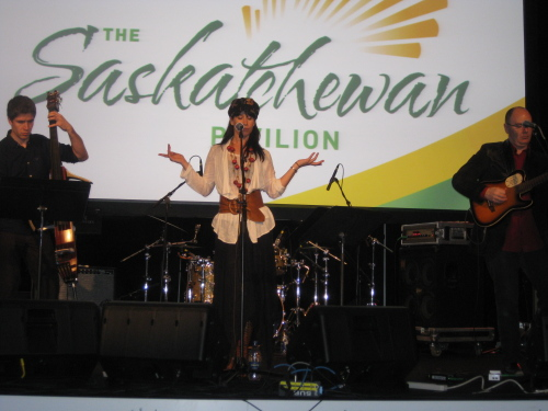 Andrea Menard live at the Saskatchewan Pavilion