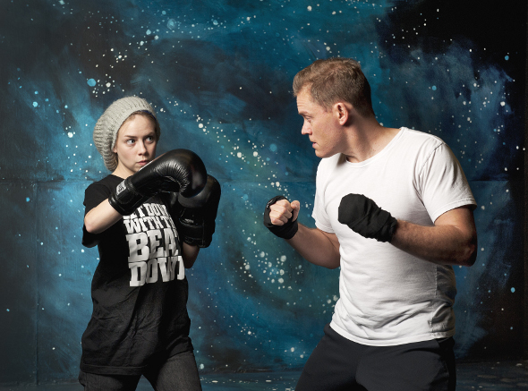 Karyn Guenther and Craig Erickson fighting back against bullying, as photographed by Emily Cooper.