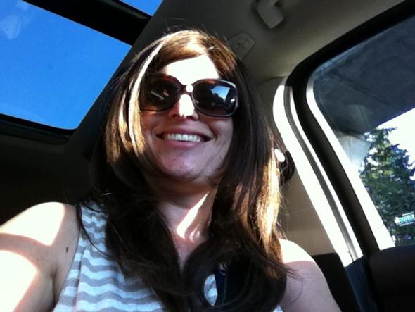 Enjoying soaking in the rays through the sky light!