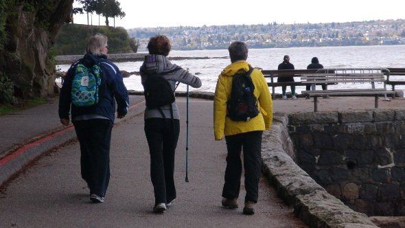 Walkers on the Stanley Park Seawall