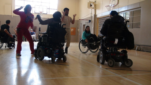 Dancing at the #WheelVoices Rehearsal