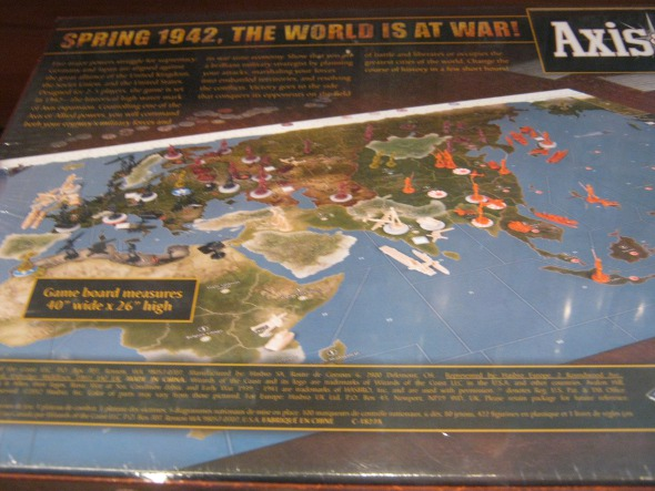 Axis and Allies boardgame