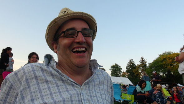 Rob Jones, enjoying the 2013 Burnaby Blues and Roots Festival.