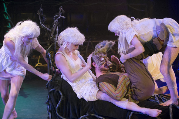 Bottom and the Fairies in A Midsummer Night's Dream