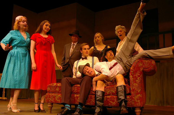 Cast of Moon Over Buffalo at the Metro Theatre Vancouver.