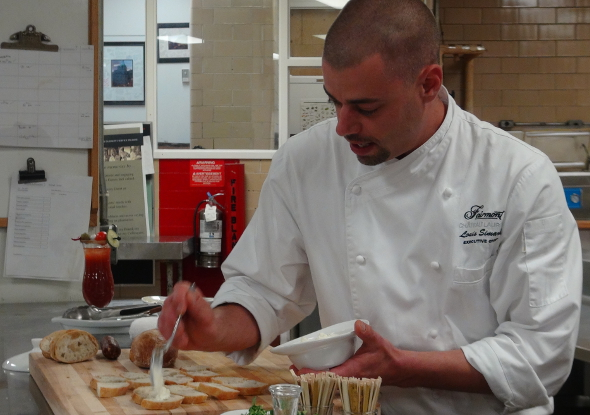 Executive Chef Louis Simard in the Fairmont Chateau Laurier Kitchen