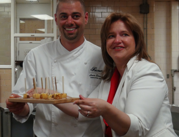 Fairmont Chateau Laurier's Executive Chef Louis Simard and Deneen Perrin