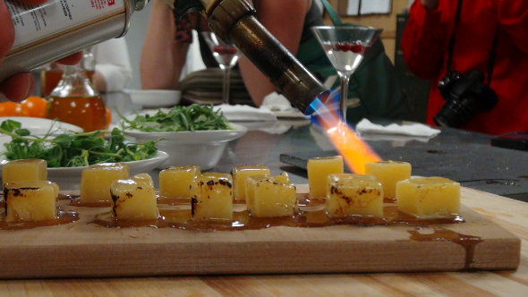 Cheese Torching in the Fairmont Chateau Laurier Kitchen