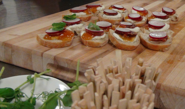 Crostini Appetizers in the Fairmont Chateau Laurier Kitchen