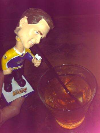 bobble head drinking