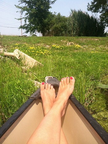 Smooth legs in a summer canoe! You want your daughter's experience to be this carefree.