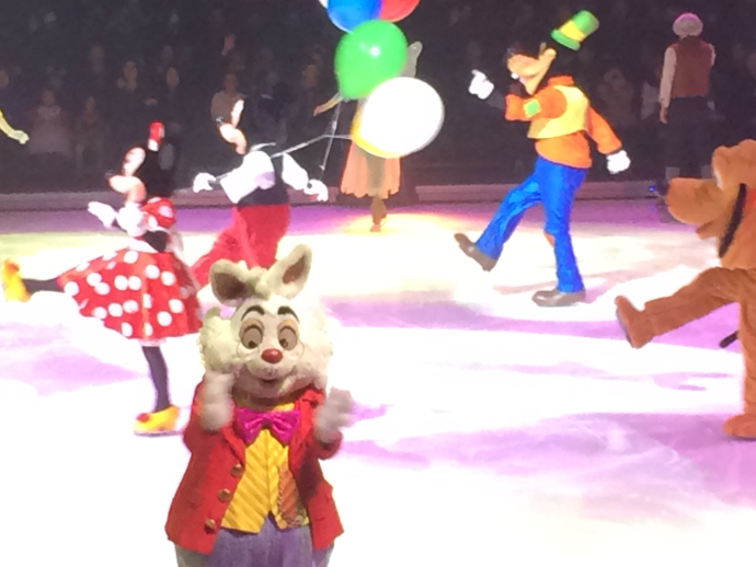 White Rabbit at Disney on Ice