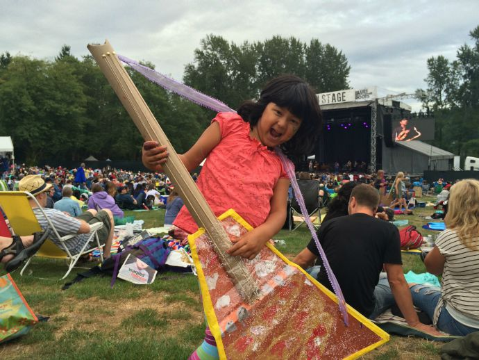 Kids activities at the Burnaby Blues and Roots Festival
