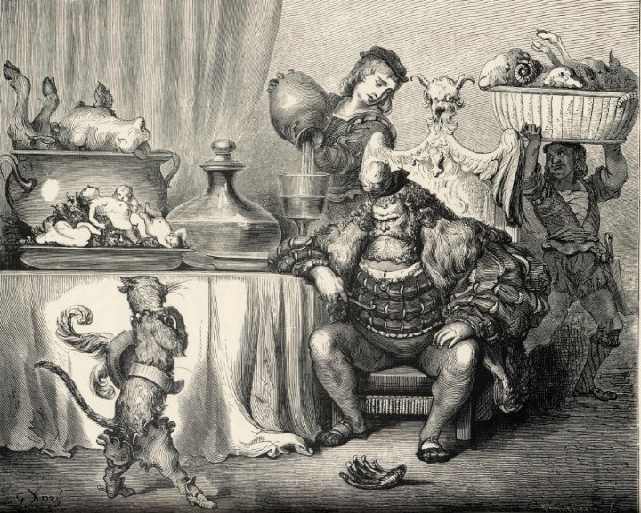 Puss n' Boots illustration by Gustave Doré