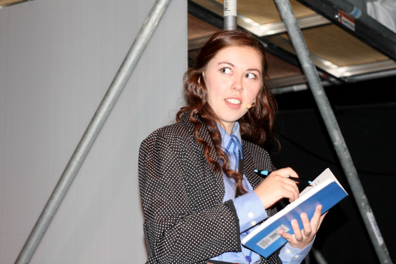 Julia Ullrich as Veronica Sawyer in Fighting Chance Productions' Heathers the Musical