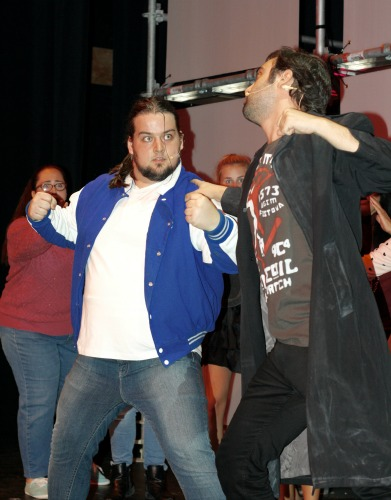 Thomas King as Ram Sweeney and David Z Cohen as JD duke it out.