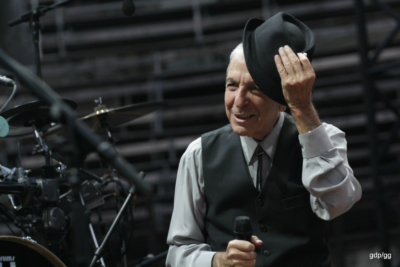 Leonard Cohen as photographed by Gaetan Grivel.