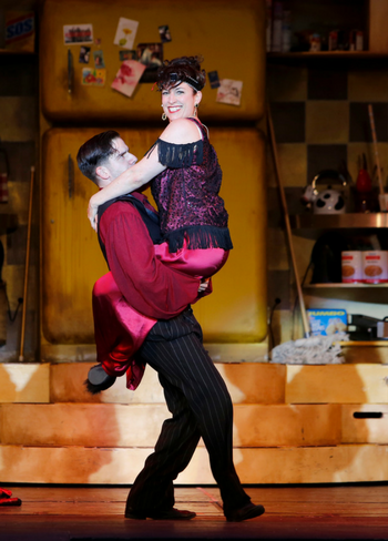 Dimitrios Stephanoy and Caitriona Murphy in The Drowsy Chaperone, as photographed by Tim Matheson.