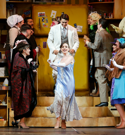 Shannon Hanbury as Janet van de Graaff in TUTS' The Drowsy Chaperone, as photographed by Tim Matheson.