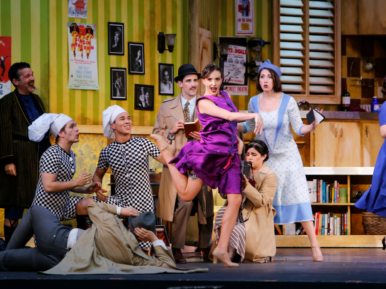 Shannon Hanbury, Kai Bradbury and Nicholas Bradbury in The Drowsy Chaperone, as photographed by Tim Matheson.