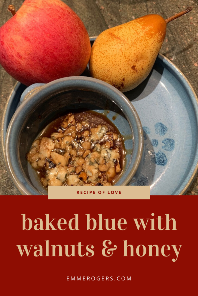 Baked Blue with Walnuts and Honey