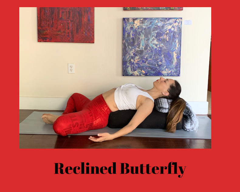 reclined butterfly