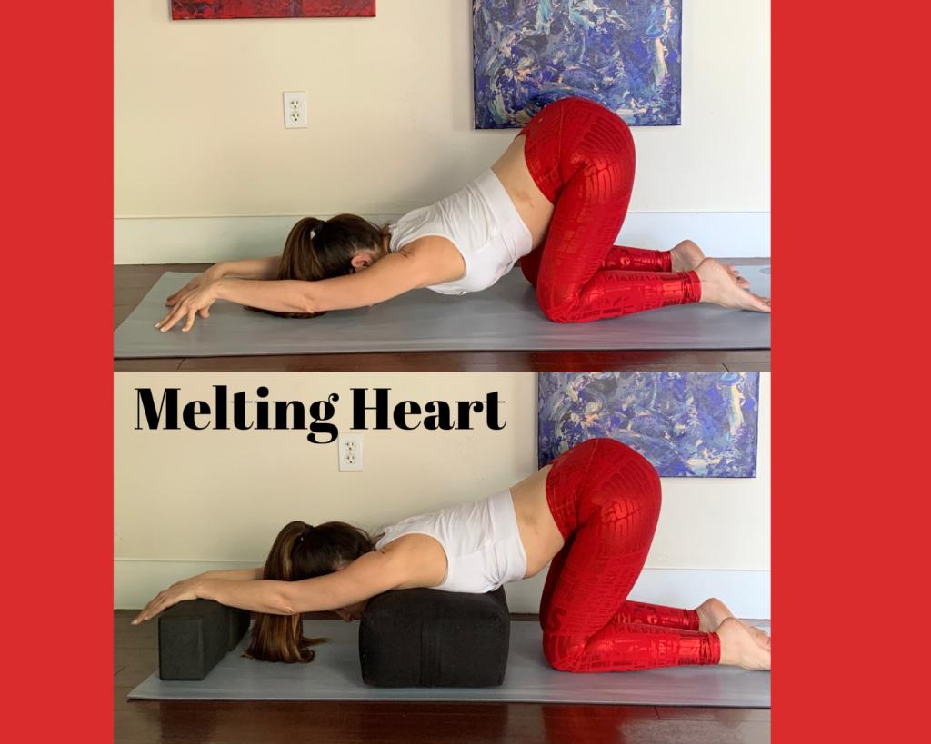 melting heart yoga pose