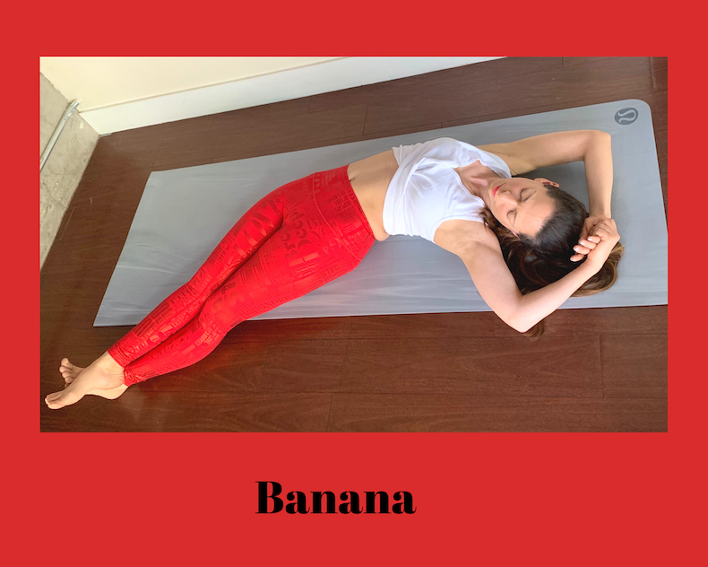 banana yoga pose