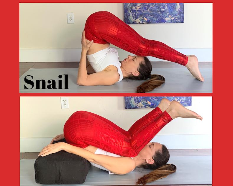 snail yin pose