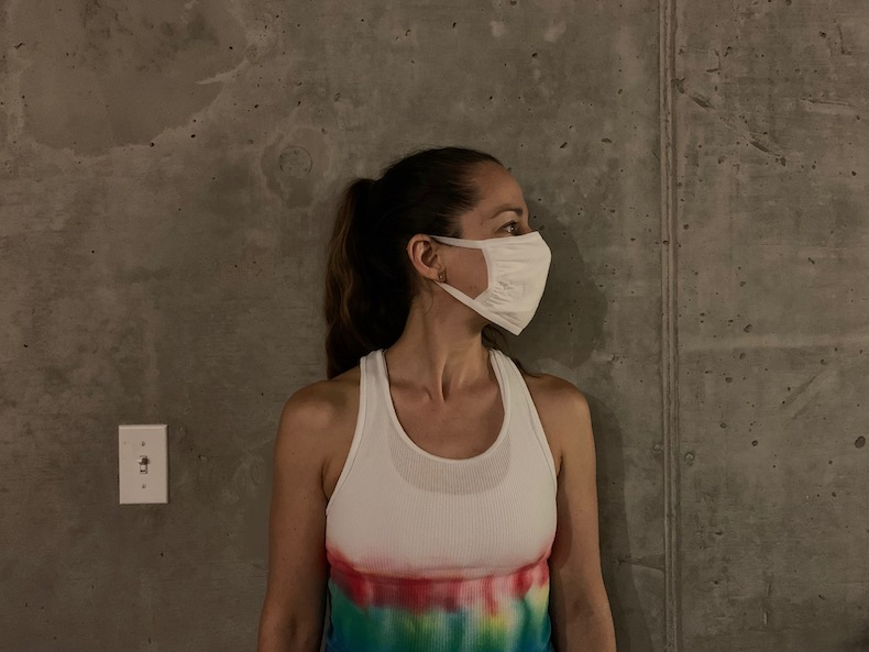 large white face mask